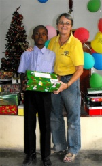 Seen here one of the children sponsored by Peoples Cathedral Primary School in Barbados.