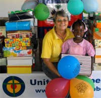 United Caribbean Trust distributed hundreds of Make Jesus Smile shoeboxes to the children of the Heart for Haiti Kindergarten  school.