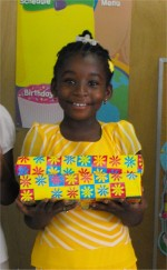 Thanks to the children of the Hawthorn Methodist church in Barbados that beautifully wrapped and packed these boxes for the Methodist children in Haiti.