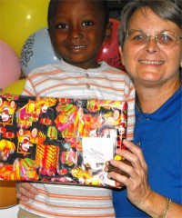 Thanks to the children of Power in the Blood that wrapped and packed this beautiful Make Jesus Smile shoebox for a little boy in Haiti.