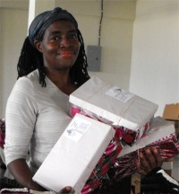Thanks to the women inmates of Dodds Prison in Barbados that beautifully wrapped hundreds of shoe boxes for the project,