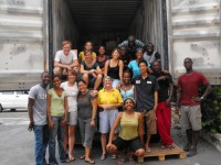 Thanks to Youth With A Mission who worked with us to pack the container.