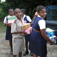 Barbadian children responding to the needs of children in the Caribbean