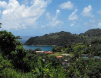 Located in the beautiful bay of Castle Bruce, a village on the east coast of Dominica.