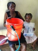 Sawer Point One Filter  being distributed in Jacmel after the earthquake
