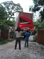 Container arriving in Les Cayes