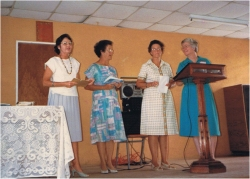 Seen here at the Friendship Bible Coffee, as they were called in those days, 15th Anniversary July 1988.