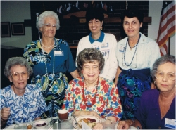Peggy's mother, Helen Stout (standing left) joined her on this tour of Ozarks.