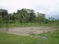 The basketball pitch is in need of refurbishment to enable the facility to be used for sports evangelism.
