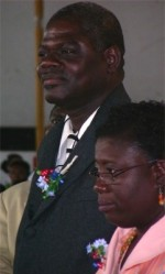 Pastor Iwan Oron and his wife Pastor Carol