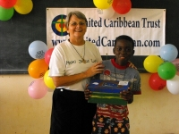 June 2009 United Caribbean Trust took the Make Jesus Smile shoebox project into Brokoponda to the Maroon children as part of the Suriname Child Sponsorship Program