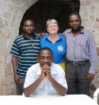 The House of Freedom Tanzania team in Dar Es Saleem seen here with Jenny Tryhane and Pastor David following the KIMI training in the capital of Tanzania.