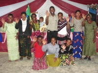 Pastor David and his wife Stella with the 2010 Women's Empowerment Sewing Class.