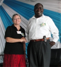 The Bishop from Zambia with Jenny