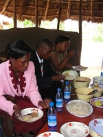 Sarah and her husband from Busia were able to join us for the last day and enjoyed some lunch in the outdoor dining area.