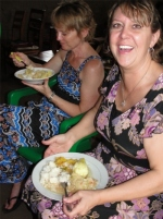 It was lead by Pastor Laura and her team from America, Liz seen here enjoying lunch