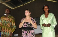 Seen here with Sarah the KIMI Busia Coordinator and Pastor Tom the KIMI Bundibugyo Coordinator.
