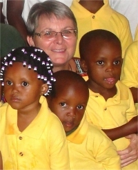 Jenny with the Hope Children's Choir