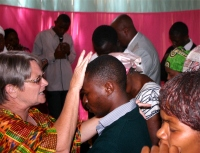At the end of each service there was an opportunity for ministry as we prayed for the believers.