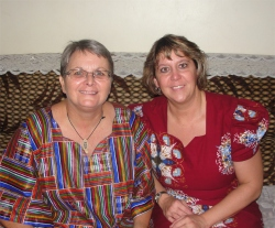 Pastor Laura KIMI Africa Representative seen here with Jenny Tryhane founder of UCT