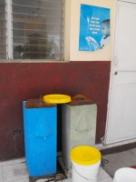 Seen here some of the UCT biosand water filters in the Yolanda Thurvil Foundation orphanage in Bon Repos