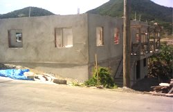 A new year update on the church building project in Carriacou the plastering compleated
