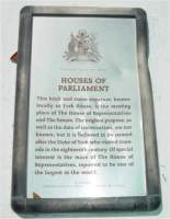 The Grenada houses of Parliament destroyed by hurricane Ivan.