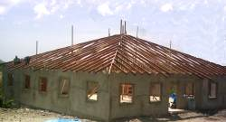 March 2006 update on the church building project in Carriacou, the plastering is almost finished the rafters are up, we trust God for the roof.