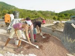 The Carriacou church building project  underway April 2005