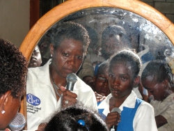 Dr B took some of the students to the mirror to show them how God saw them