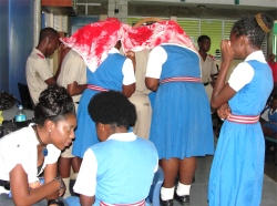 Shamelle joined the team for the visit to Deighton Griffith School.