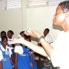 De B visits The Lodge School in Barbados