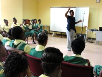 Dr B' visit to Parkinson's School in Barbados was a great success.