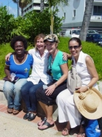 Heidi Baker seen here with some local Barbadians, including Gina