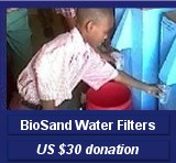 BioSand Water F US $30 donation