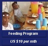 Haiti child feeding  US $10 per monthprogram