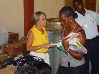 The United Caribbean team, on the first visit, met immediately with community leaders,