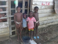 Bush Negro children in Suriname