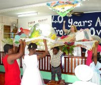 Maureen Bravo, of RUII (Resources Unlimited International, Inc.) and one of their prayer teams in Barbados casting a prayer net over Barbados and the islands of the Caribbean.