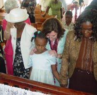 Jackie Taylor joins Maureen Bravo's Intercessory team to Barbados