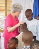 The children on Barbados praying for each other