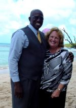 Maureen with Courtney  Selman Prayer Warriors International  in Barbados