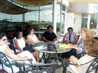 The group met with Robertha Simpson and enjoyed a morning of fellowship.