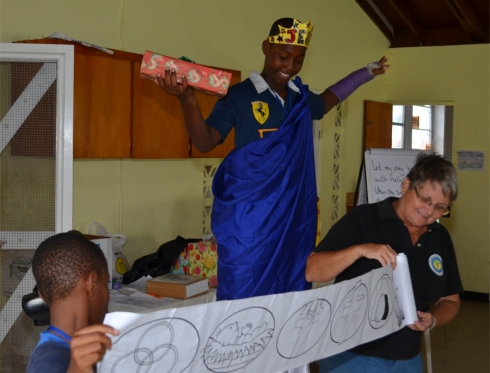 Jenny Tryhane the Founder of UCT involved in childrens ministry at The WISH Centre during the Summer Camps
