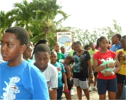 Seen here the youth from the Ellerton Summer Camp 2013