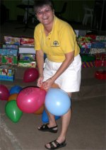 Balloons donated compliments of Laurie Dash Toy Store in Barbados.