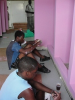 Volunteers have been working in this area to repaint and tile the seven shower cubicals and the bathroom area.