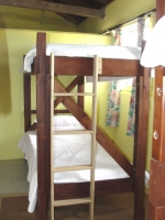 Bunk beds have been stained and repositioned in these bedrooms.