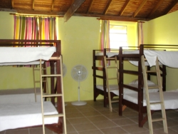 The large Vocational Training room has been tiled and five bunks