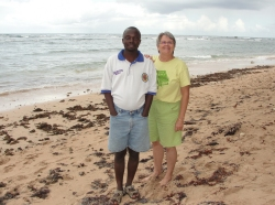 Pastor Abraham and Jenny at Bath beach